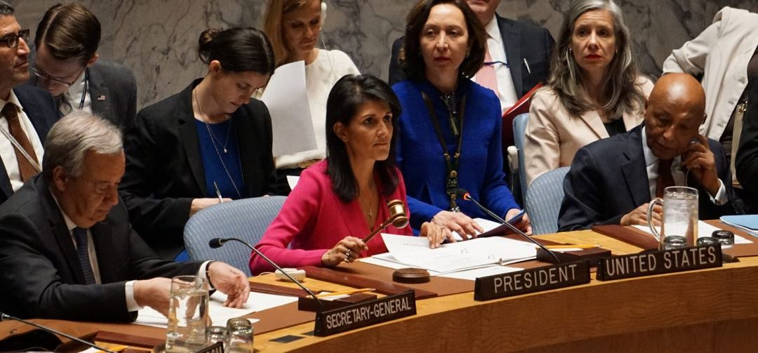 Chemical Weapons; Haley accuses Russians of supporting Syria's killing of some 1,500 people