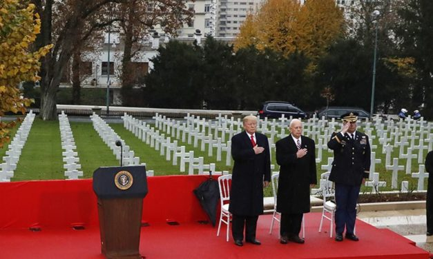 President Trump in France; World War 1 Ends 100 years ago this day