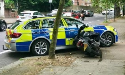 """""""Low crime"""" London Police take to ramming scooter crooks"""