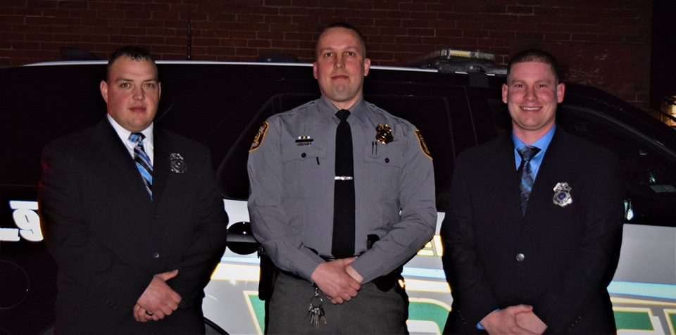 New officers and a promotion at Hanover Township Police