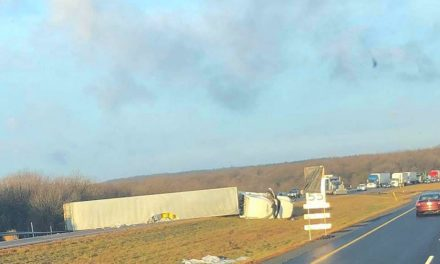 Semi Overturns slowing morning traffic in McAdoo