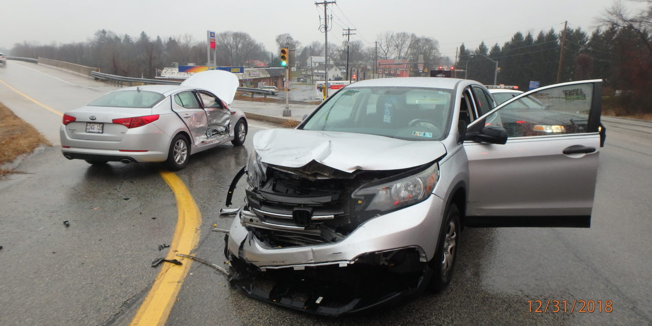 New Year's Eve crash with injuries in Upper Allen Township