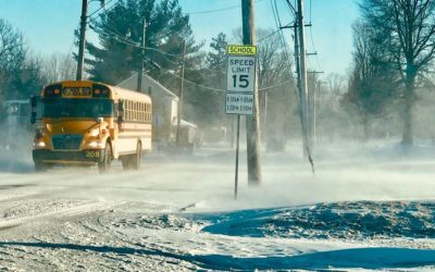Warning of blowing and drifting snow in Lancaster County