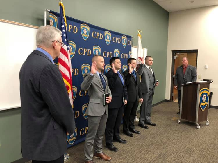 Four new Carbondale Police officers sworn in