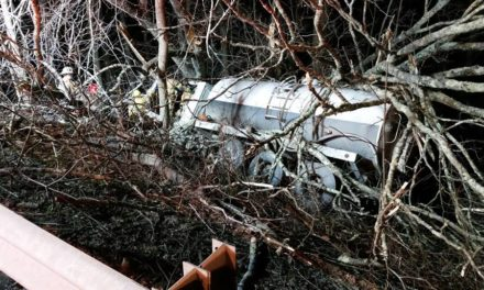 Firefighters in Clifford respond to truck crash down embankment