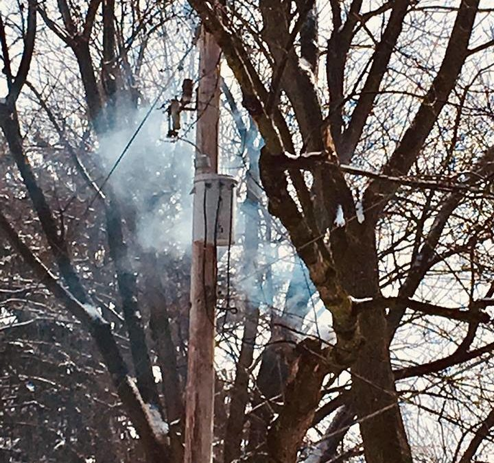 Pole and Tree  fire in Pequea Township