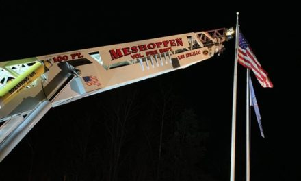Our flag is still there thanks to Meshoppen Volunteer Fire Department
