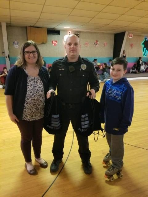 Hanover Police thanks participants in Skate with a Cop event at Skateaway