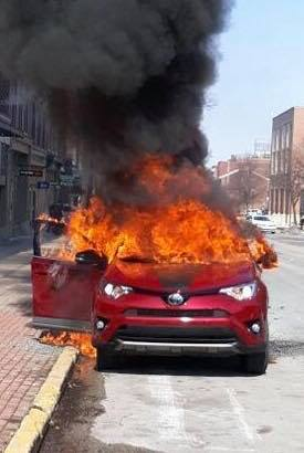 York Fire Department responds to car fire, Good Samaritans extract driver