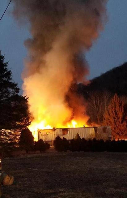 Clifford Township Fire responds to two mobile homes on fire