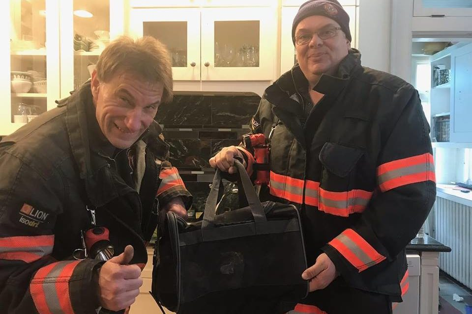 Hazleton Fire Department rescues cat in cabinet
