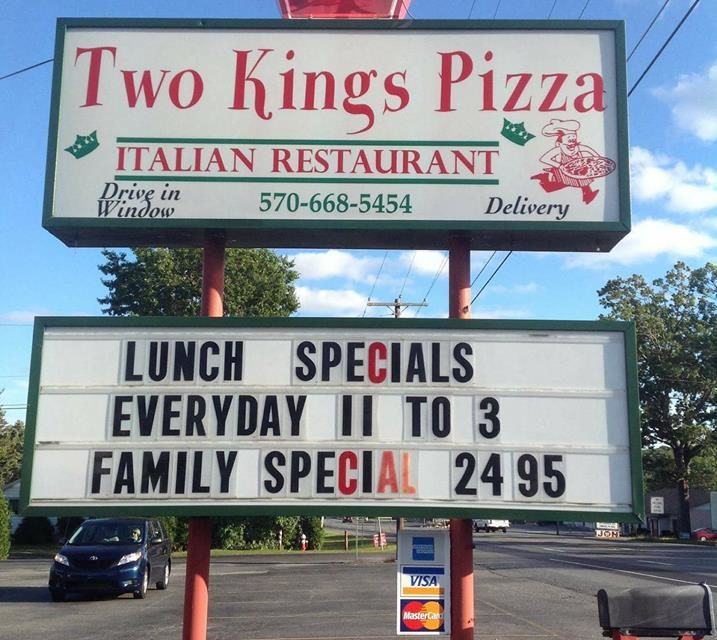 Tamaqua's Two Kings Pizza and Pasta blunders food code inspection, dark mold-like substance on interior food contact surfaces of ice machine