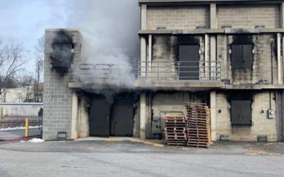 York County Prison crews training at the fire school Friday