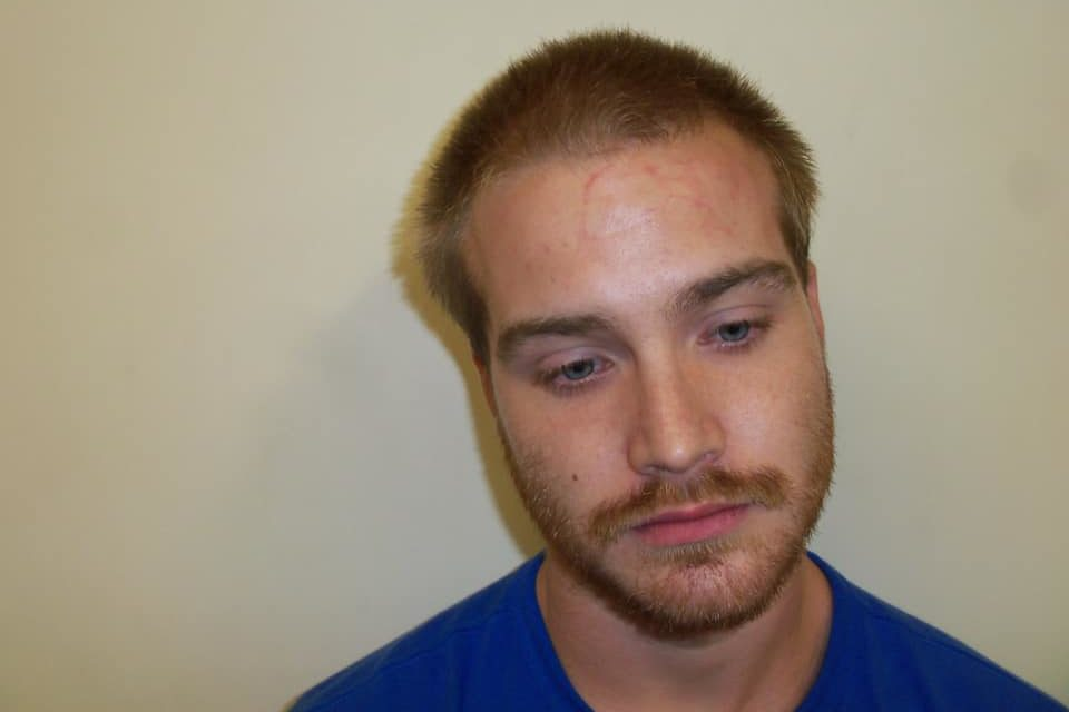 Watsontown Police arrest 23, year old Logan A. Mathias after stalking a woman, threatening her and another with a gun