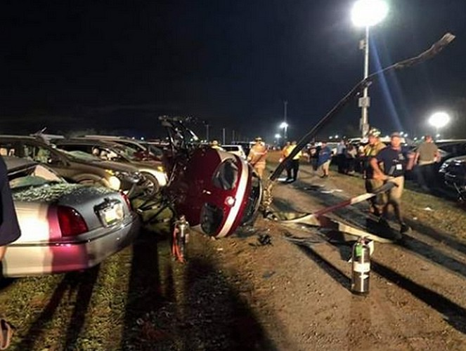 Helicopter  crashes at Bloomsburg Fair, at least 3 people injured