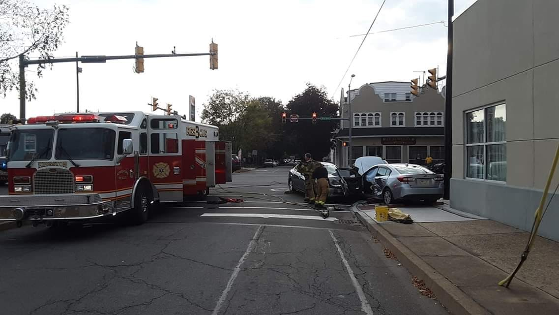 Kingston Forty Fort Fire Department Fire Department responded to accident on Market Street