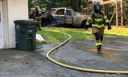 Newberry Township Fire Department puts out truck fire