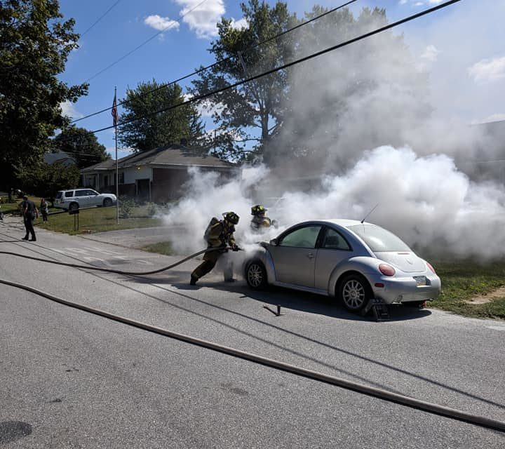 Shrewsbury Volunteer Fire Company puts out bug fire