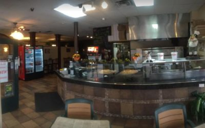 That's Amore Italian Restaurant and Pizzeria in Bloomsburg blunders inspection, pink, brown and black mold-like substance on ice machine production area, a food contact surface