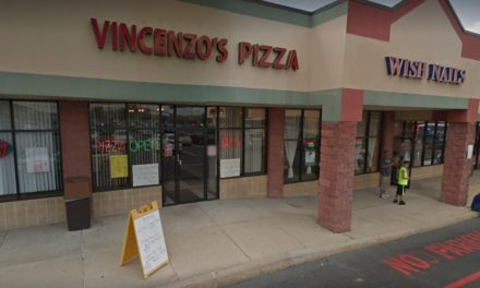 Vincenzo's PIzza in Square Shopping Center fumbles state inspection, 11 violations, patches of green mold on multiple wooden shelves