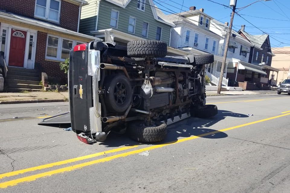 Firefighters respond to 3 car accident in Hazleton, 1 person injured