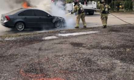 Hanover Township Fire Department makes quick work of car fire, no injuries on October 9