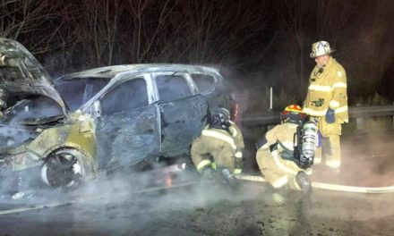 Harford Volunteers respond to SUV Fire on I-81