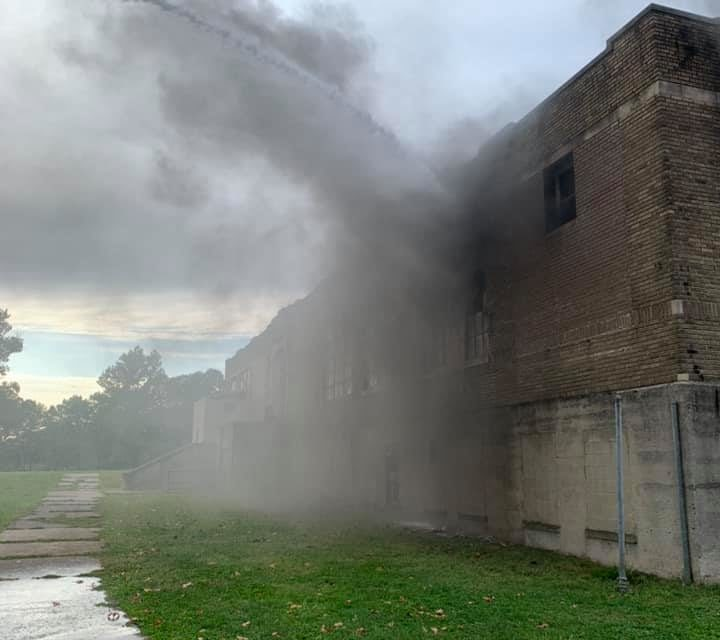 Harrisburg Firefighters on scene of abandoned schools