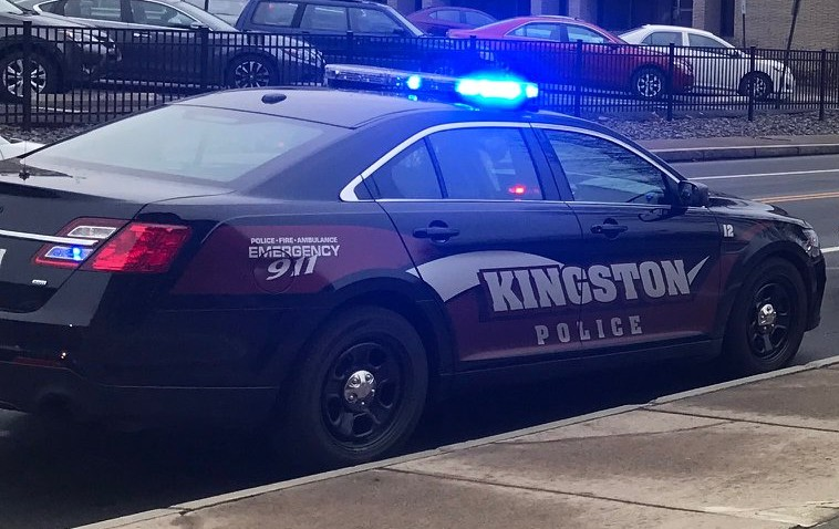 Kingston Police arrest  Barrington Lawrence, Jr,  age 32, on warrant after traffic stop