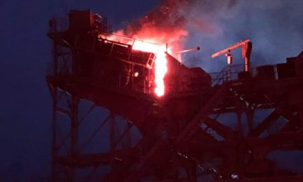 Montoursville Fire Department puts out fire at Hanson Quarry this morning