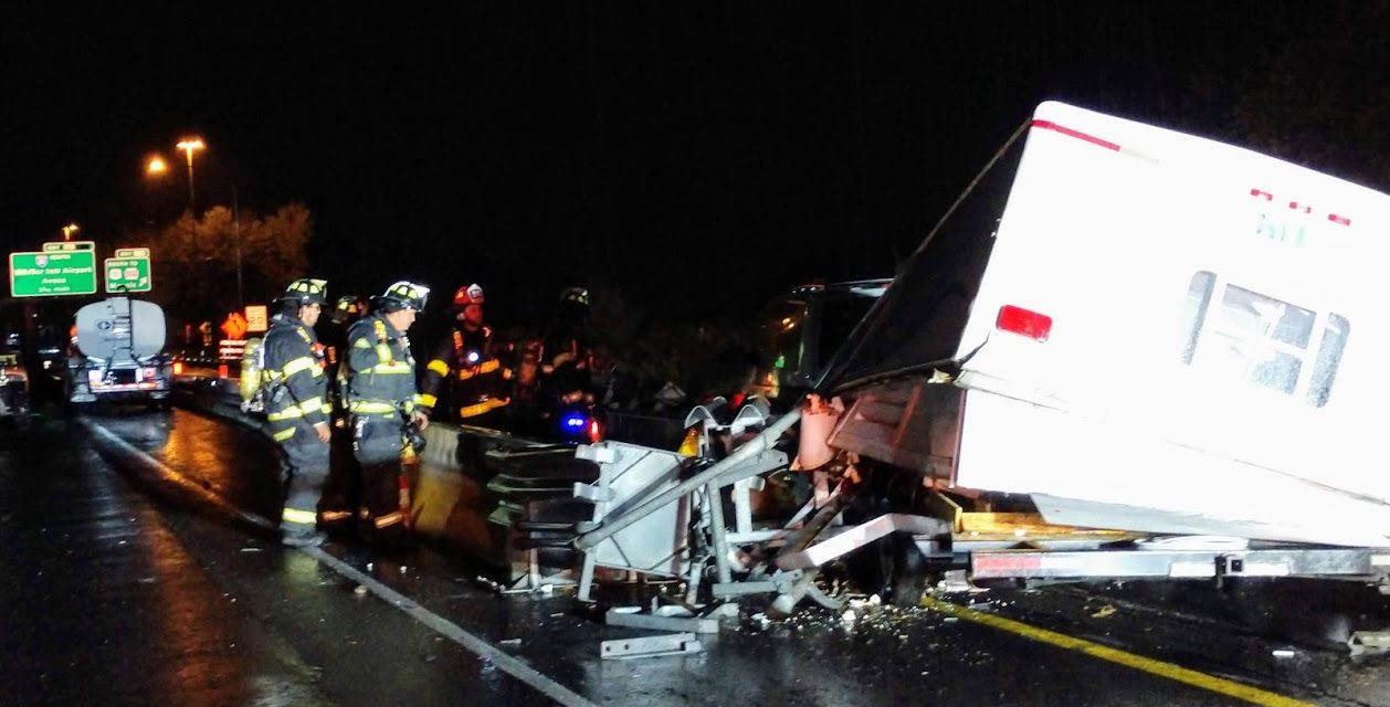 Greenwood Fire Department responds to crash that destroyed camper on Route 81
