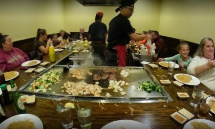 Live cockroaches observed on storage racks at dishwasher and next to ice machine, Bloomsburg's Oliran Japanese Hibachi Steakhouse fails restaurant inspection