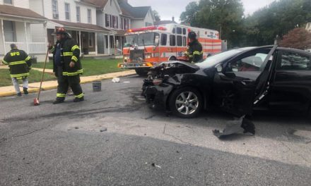 Accident in Shippensburg this afternoon on Richard Ave