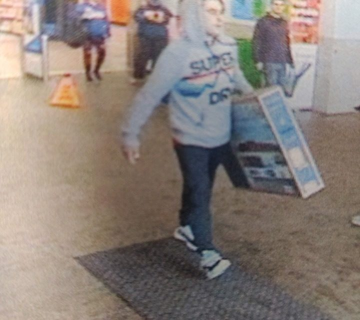 Wilkes-Barre Township Police looking for suspect they say walked stole TV from Walmart