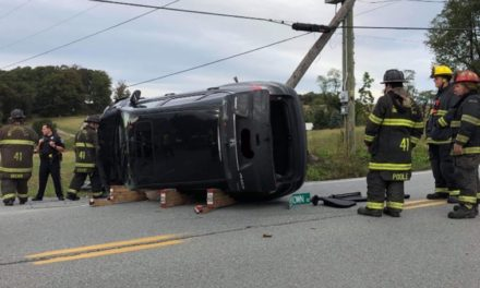 Wrightsville Fire & Rescue Company 41 responds to overturned vehicle